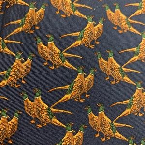 Brooks Brothers 100% silk, bird  tie